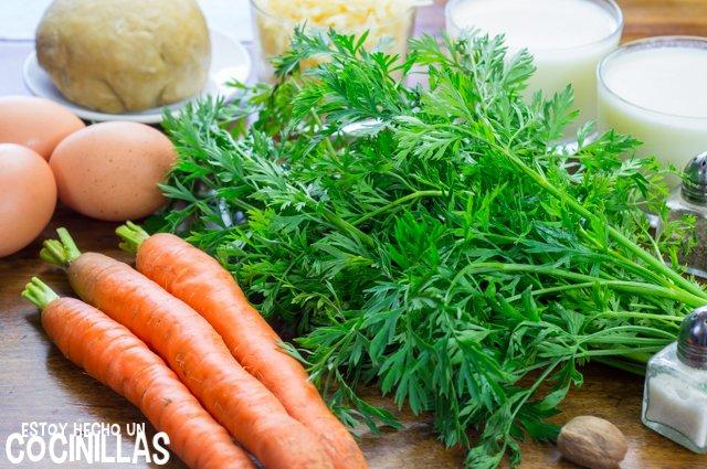 Quiche de zanahoria (ingredientes)