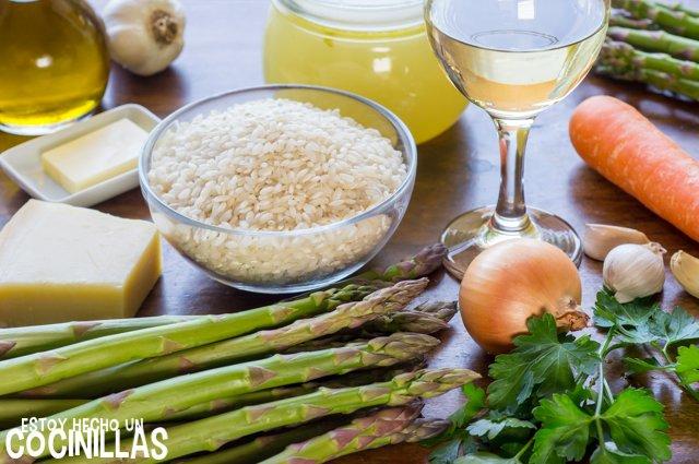 Risotto de espárragos verdes (ingredientes)