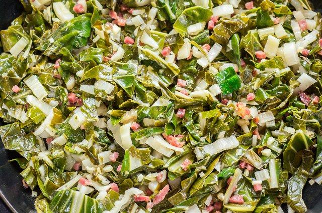 Acelgas con jamón rehogadas (ingredientes)
