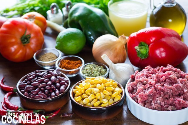 Chili con carne (ingredientes)