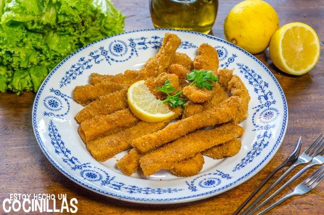 Rabas empanadas de calamar o pota