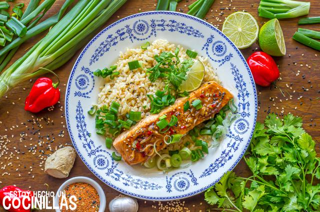 Receta de salmón a la plancha marinado con soja