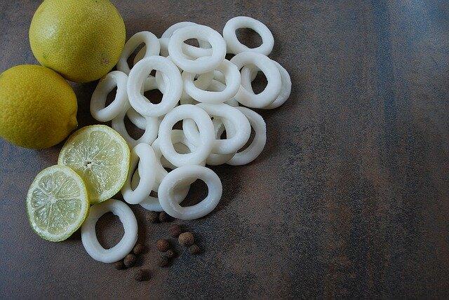 Calamares en su tinta con arroz (ingredientes)