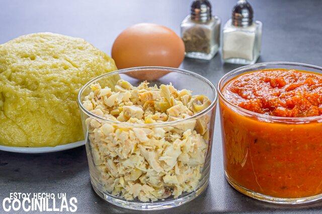 Empanadillas de pollo caseras (ingredientes)