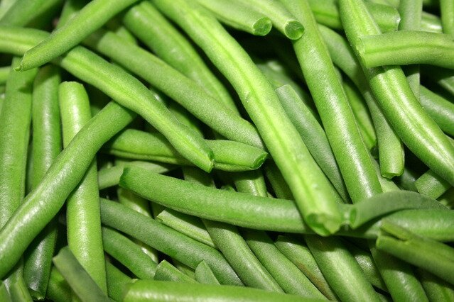 Ensalada de pasta espirales (judías verdes)