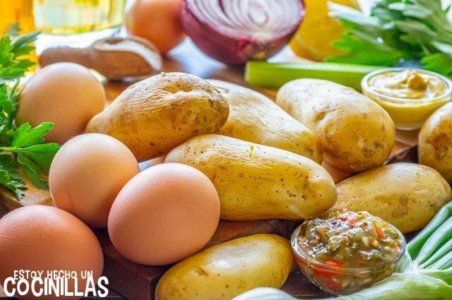 Ensalada de patata americana (ingredientes)