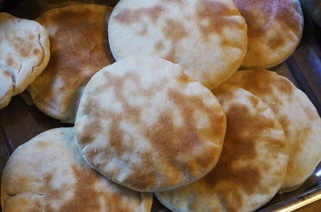 Falafel de lentejas (pan de pita)