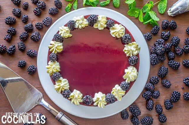 Receta tarta de moras sin horno con gelatina