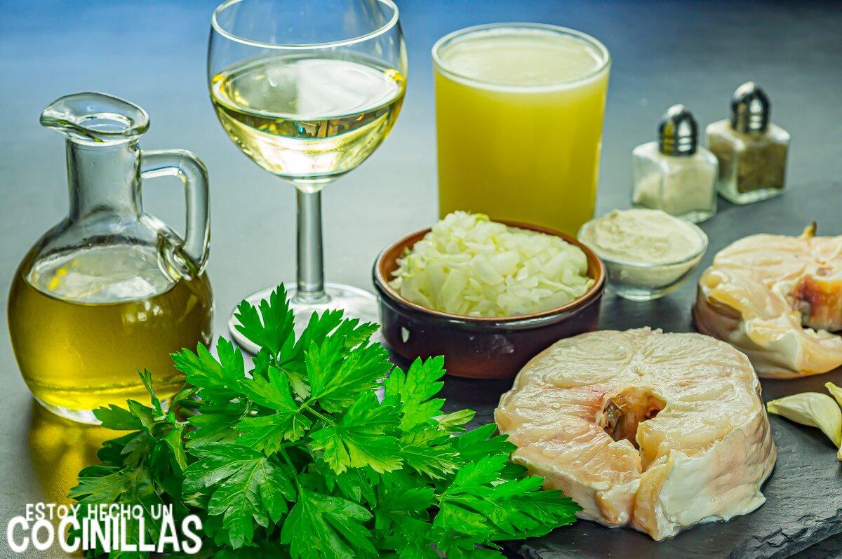 Congrio en salsa verde (ingredientes)