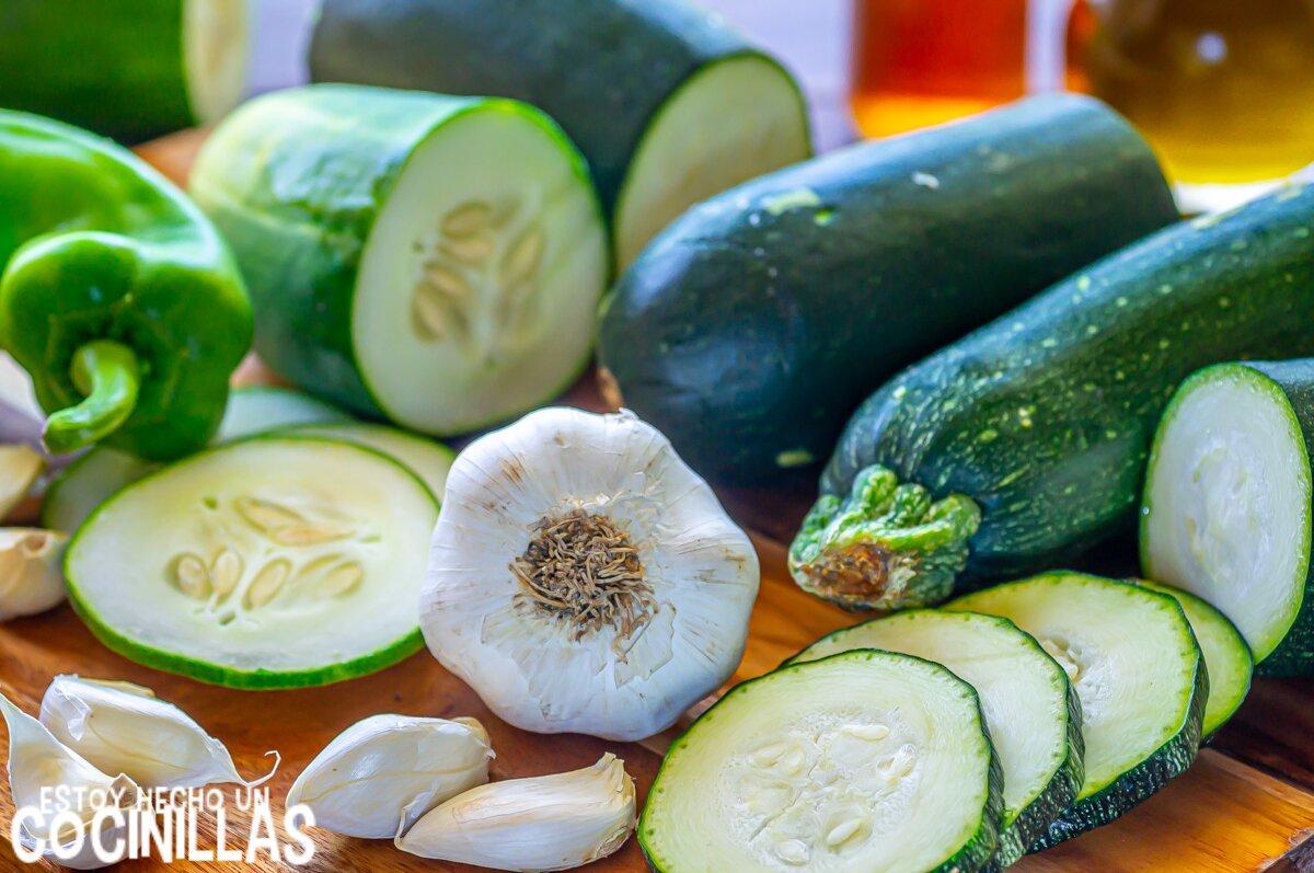 Gazpacho de calabacín (ingredientes)