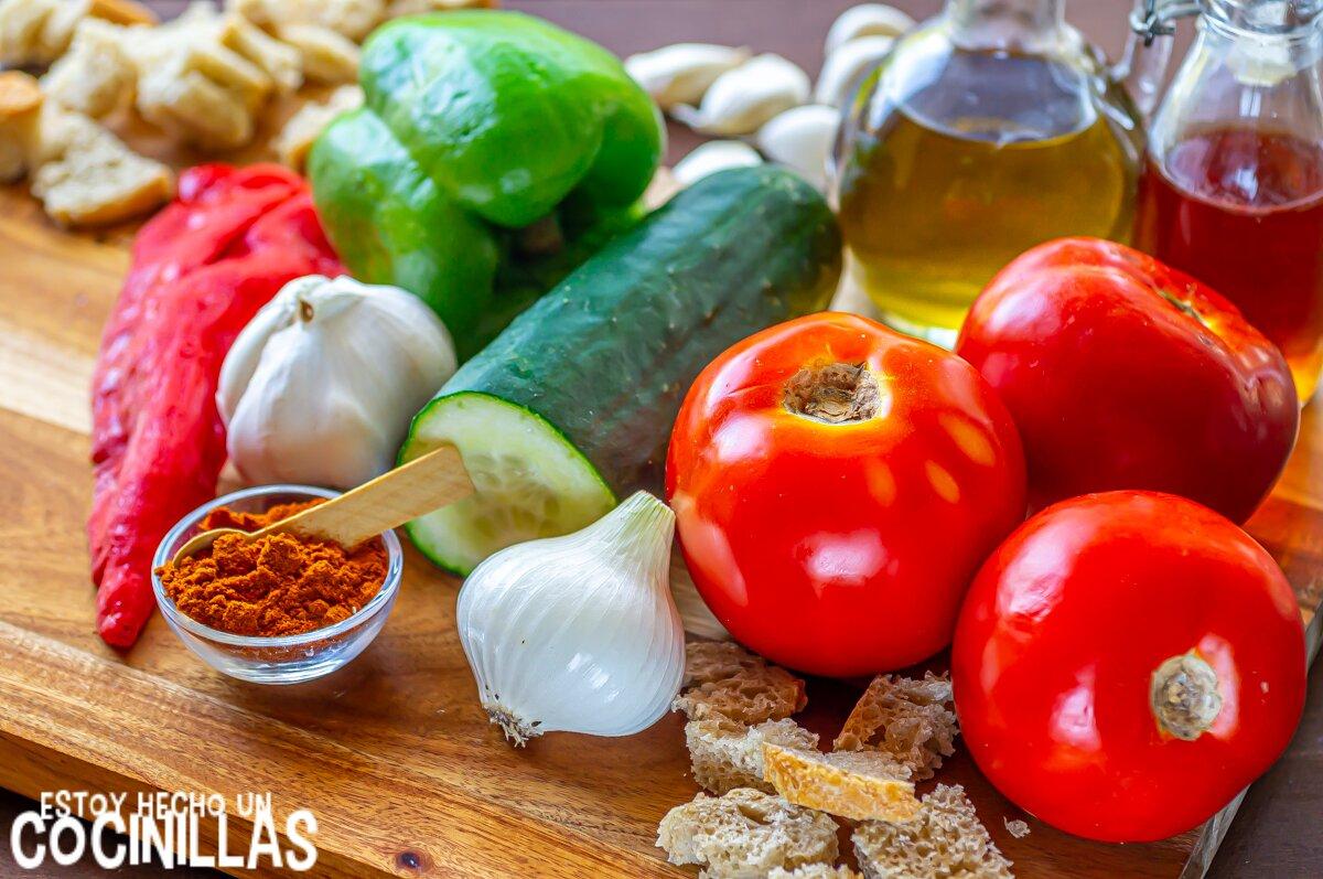 Gazpacho extremeño (ingredientes)