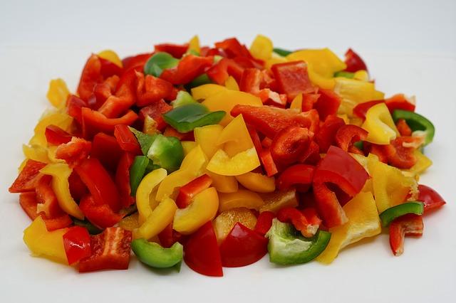 Tortitas saladas de maíz dulce (pimientos)
