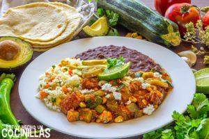Estofado de cerdo con calabacín a la mexicana