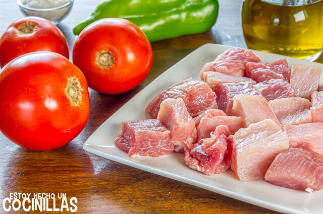 Pisto con carne (ingredientes)