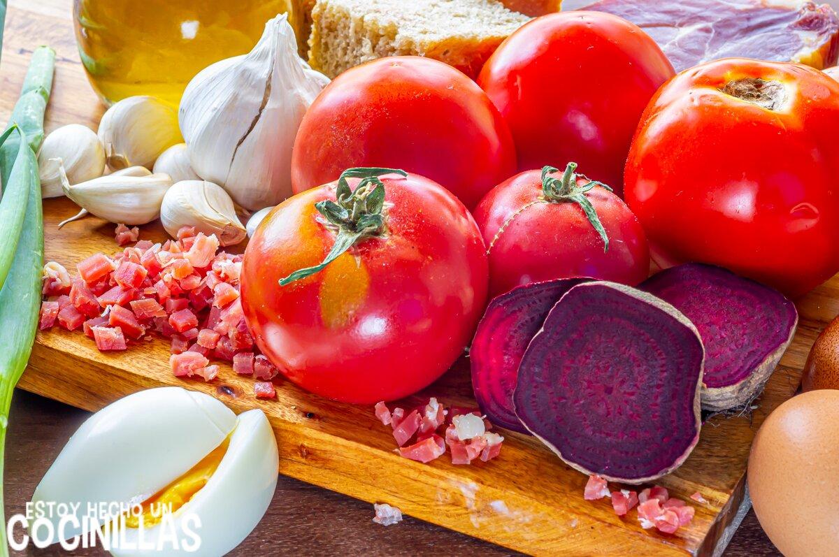 Salmorejo de remolacha (ingredientes)