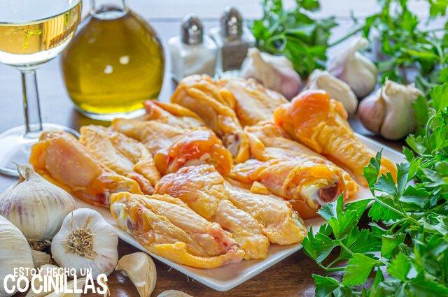 Alitas de pollo al ajillo (ingredientes)