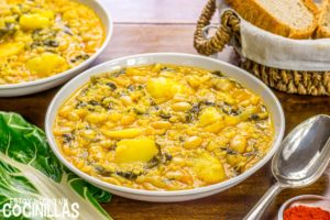 Arroz con acelgas (arròs amb bledes)