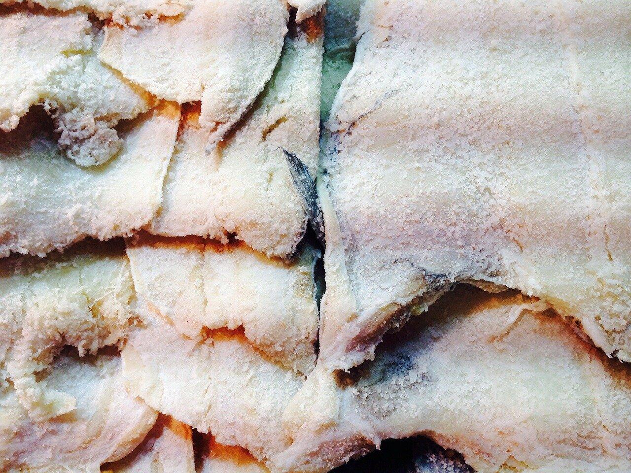 Borreta alicantina de bacalao (bacalao en salazón)