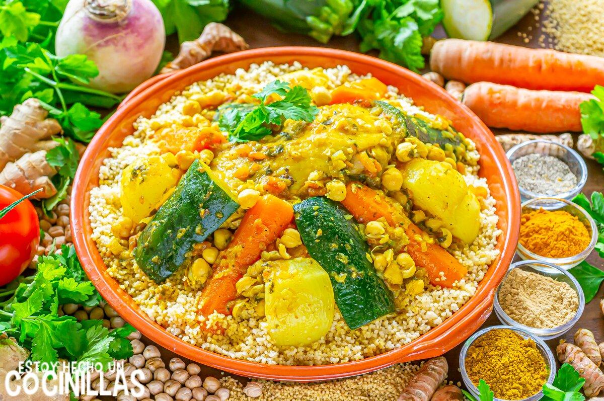 Cuscús de pollo con verduras al estilo marroquí