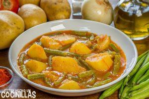 Patatas con vainas (guiso de patatas con judías verdes)