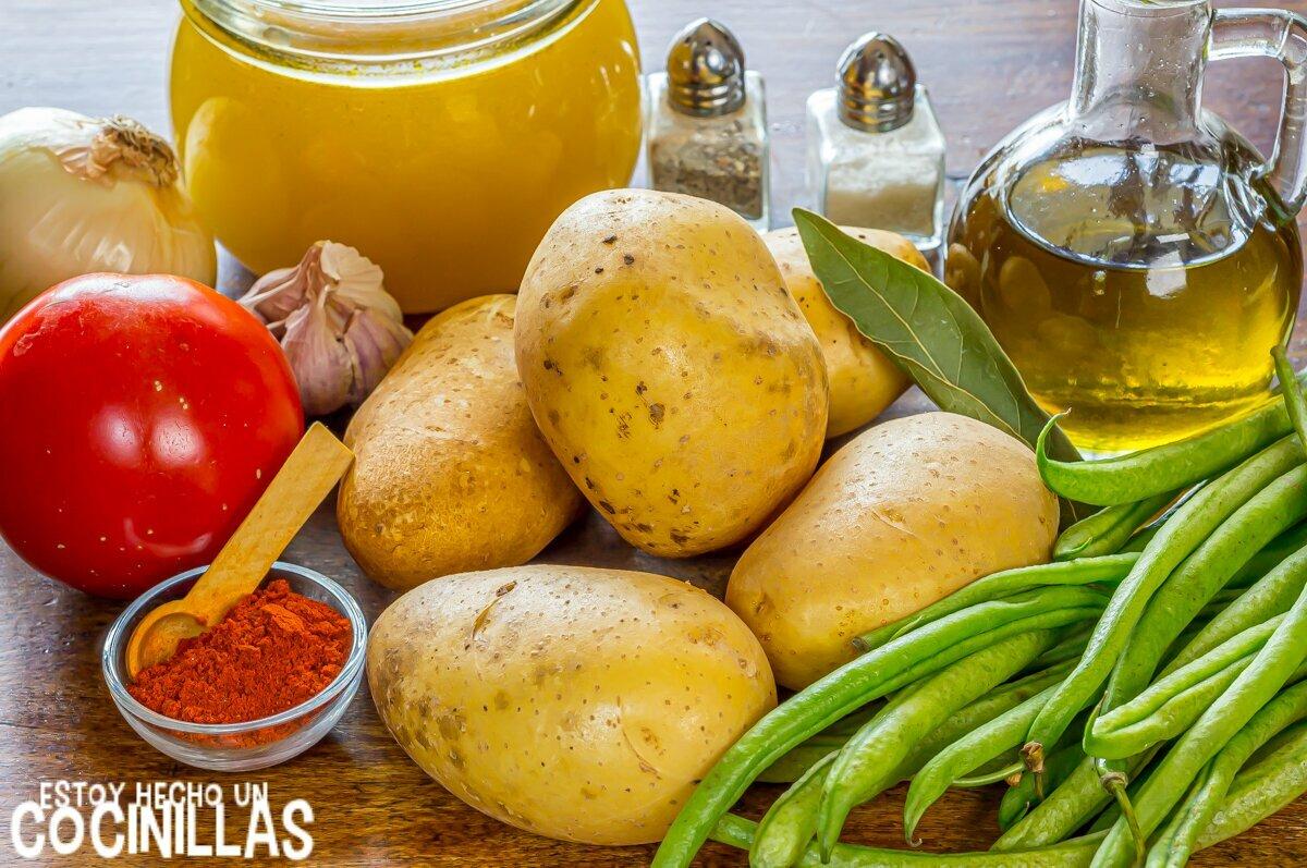 Patatas con vainas (ingredientes)
