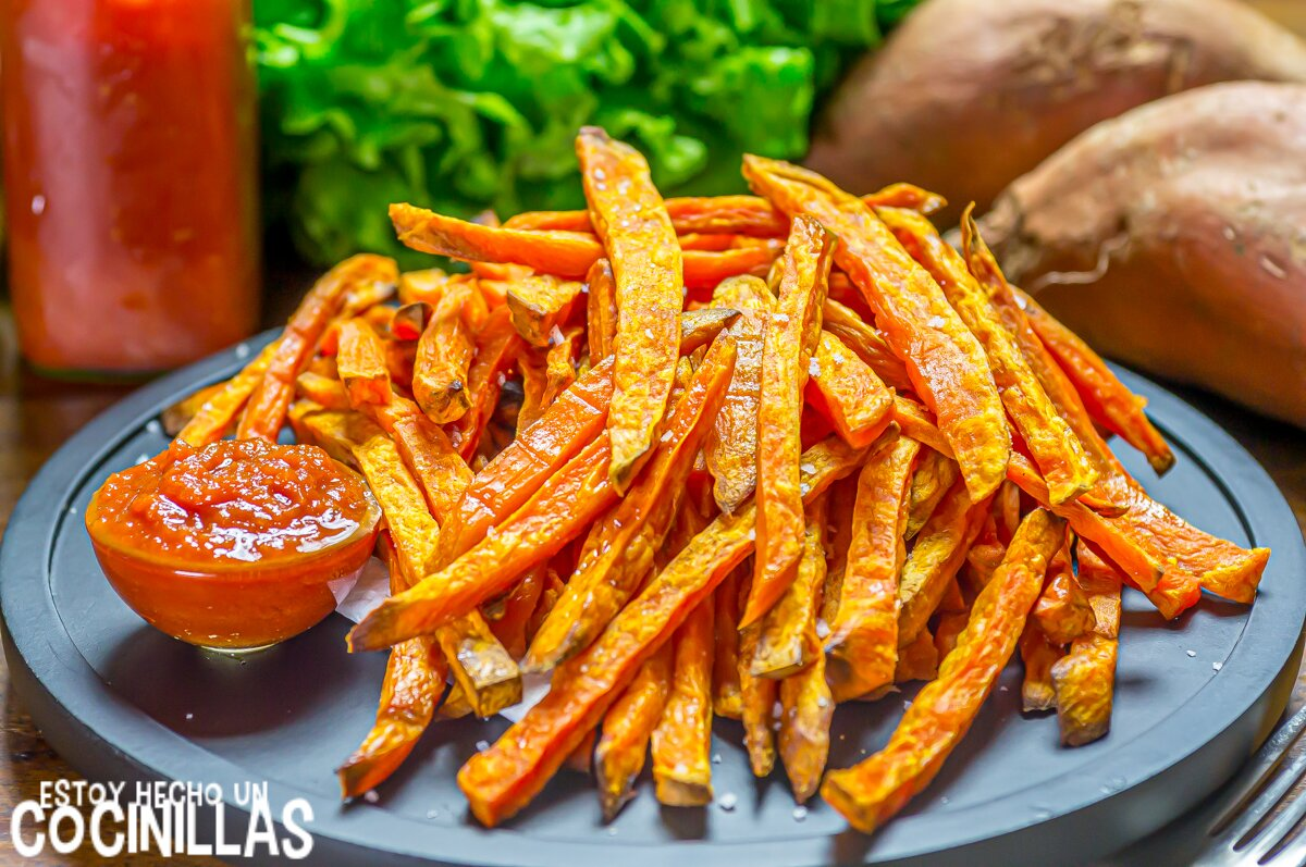 Patatas fritas de boniato al horno (sweet potato fries)