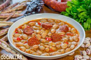 Potaje de alubias pochas con chorizo