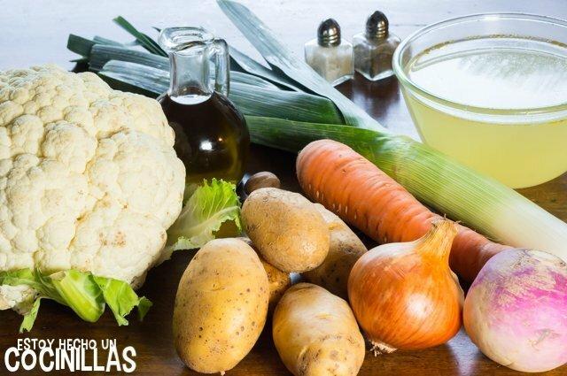 Crema de coliflor (ingredientes)