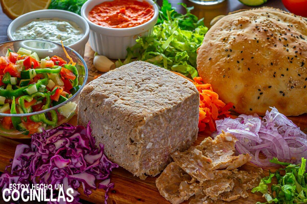 Ingredientes para döner kebab casero