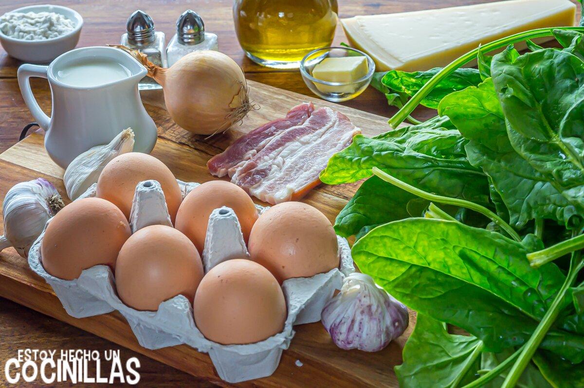 Ingredientes huevos a la florentina