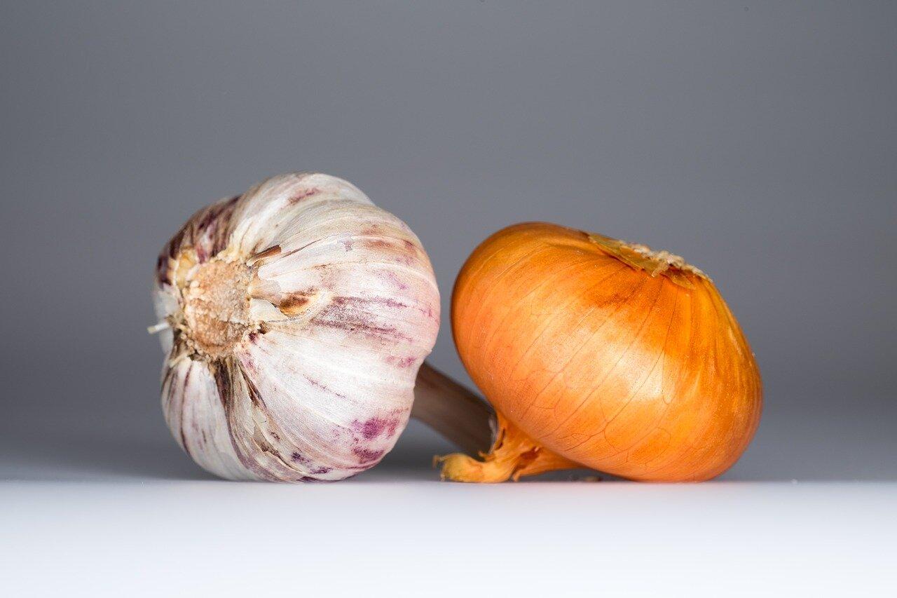 Ingredientes sopa de ajo y cebolla