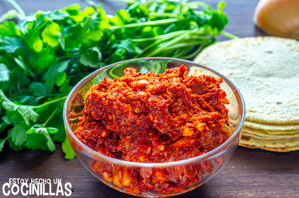 Ingredientes para tacos de chorizo