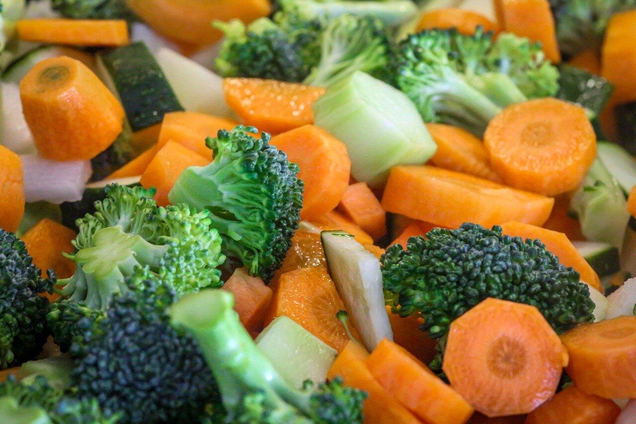 Verduras para arroz con pavo