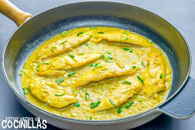 Cómo hacer solomillos de pollo al curry