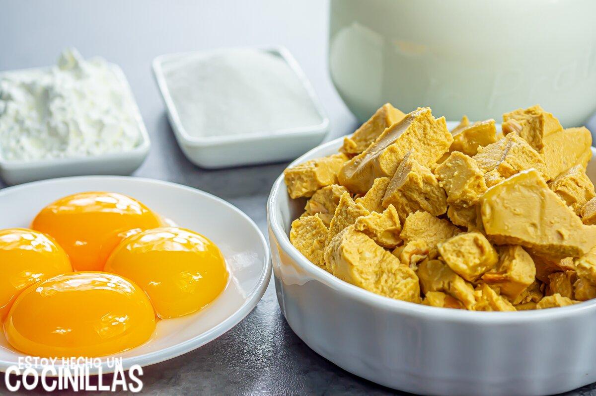 Crema pastelera de turrón (ingredientes)