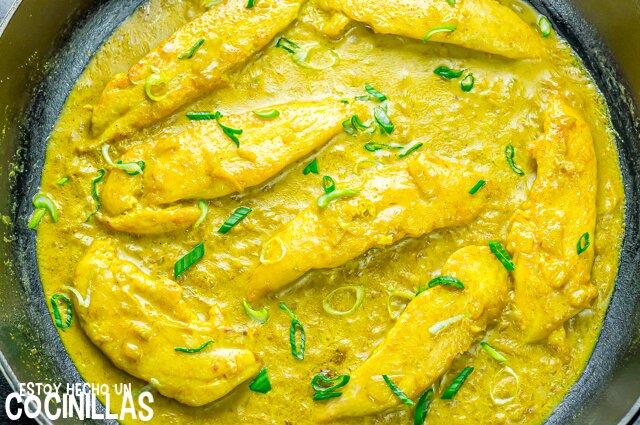 Receta de solomillos de pollo al curry