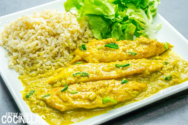 Solomillos de pollo al curry