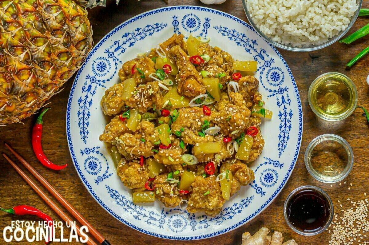 Receta pollo con piña estilo chino