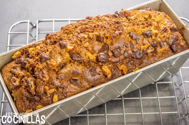 Cómo hacer bizcocho de plátano, chocolate y nueces (banana bread)