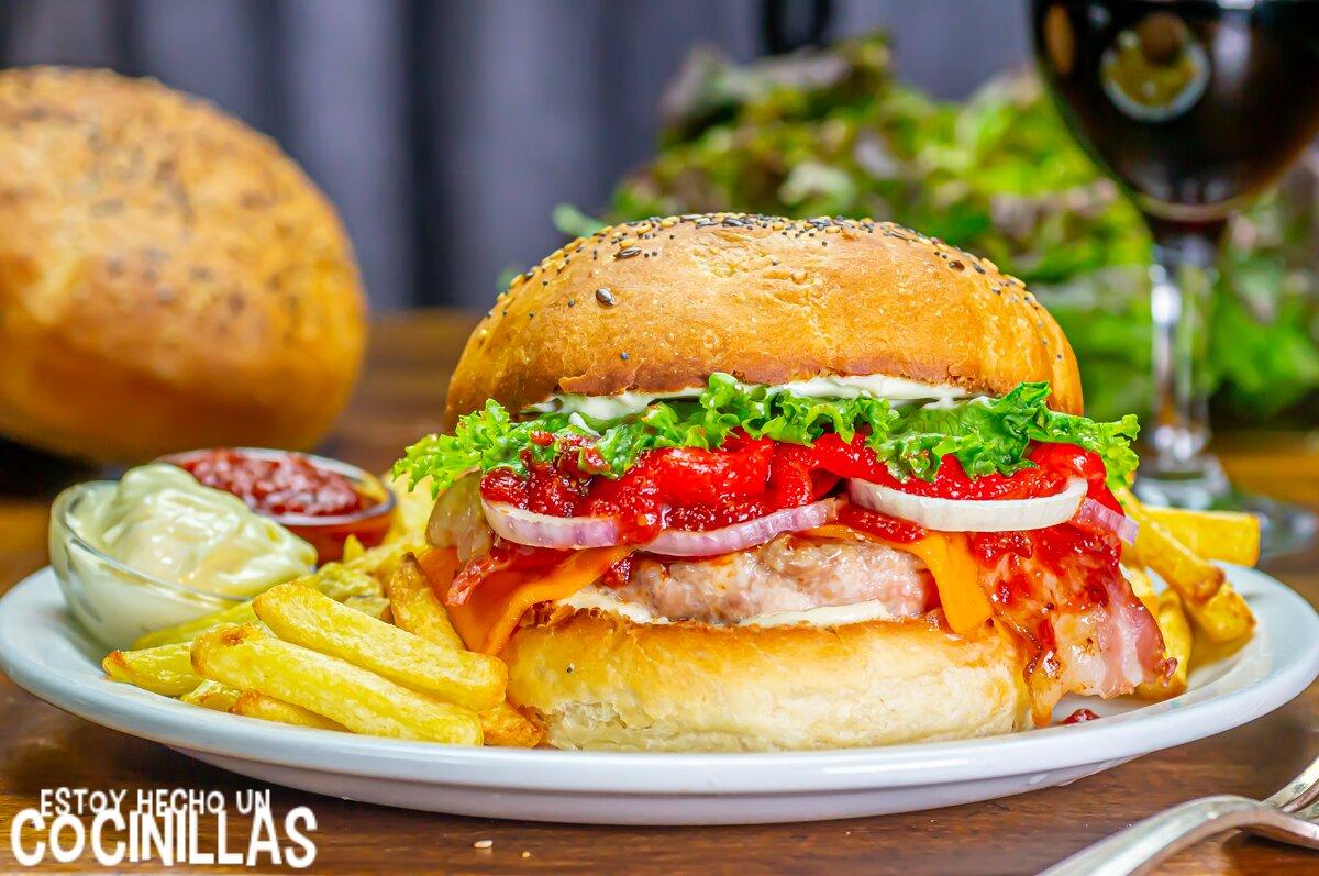 Cómo hacer hamburguesa de pollo casera