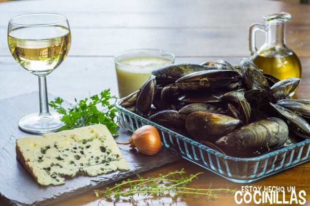 Mejillones al roquefort (ingredientes)