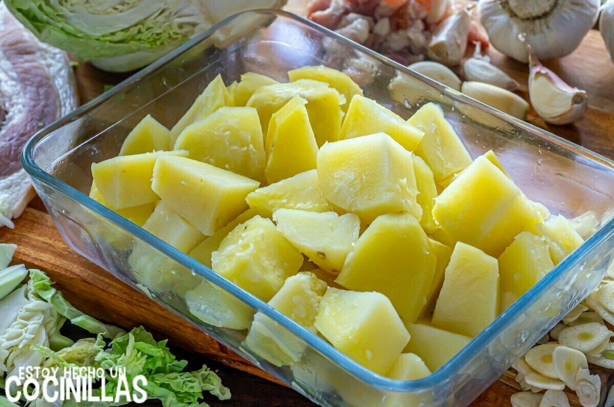 Trinxat de la Cerdanya (patata cocida)