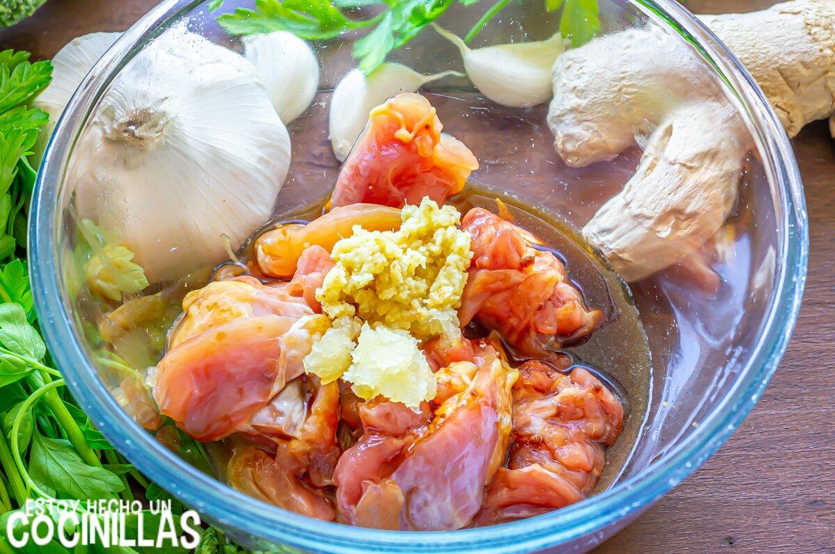Cómo hacer chop suey de pollo (wok de verduras con pollo)
