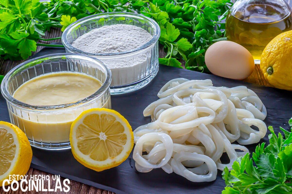 Ingredientes calamares a la romana crujientes y esponjosos