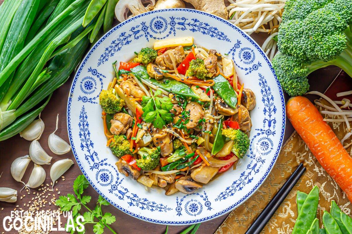 Receta de chop suey de pollo (wok de verduras con pollo)