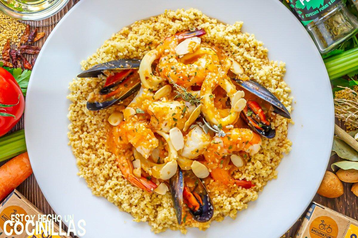 Receta cuscús siciliano de pescado y marisco