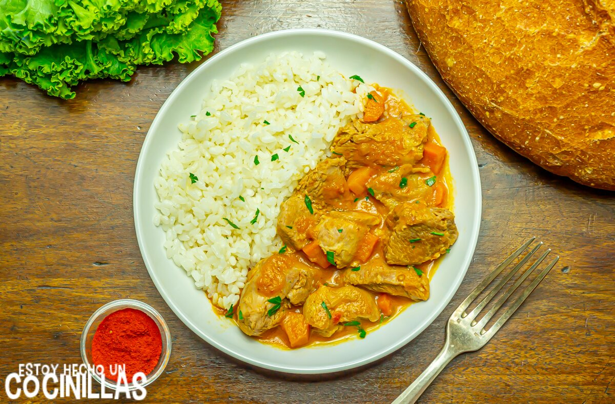 Receta de guiso de pavo con zanahorias y arroz