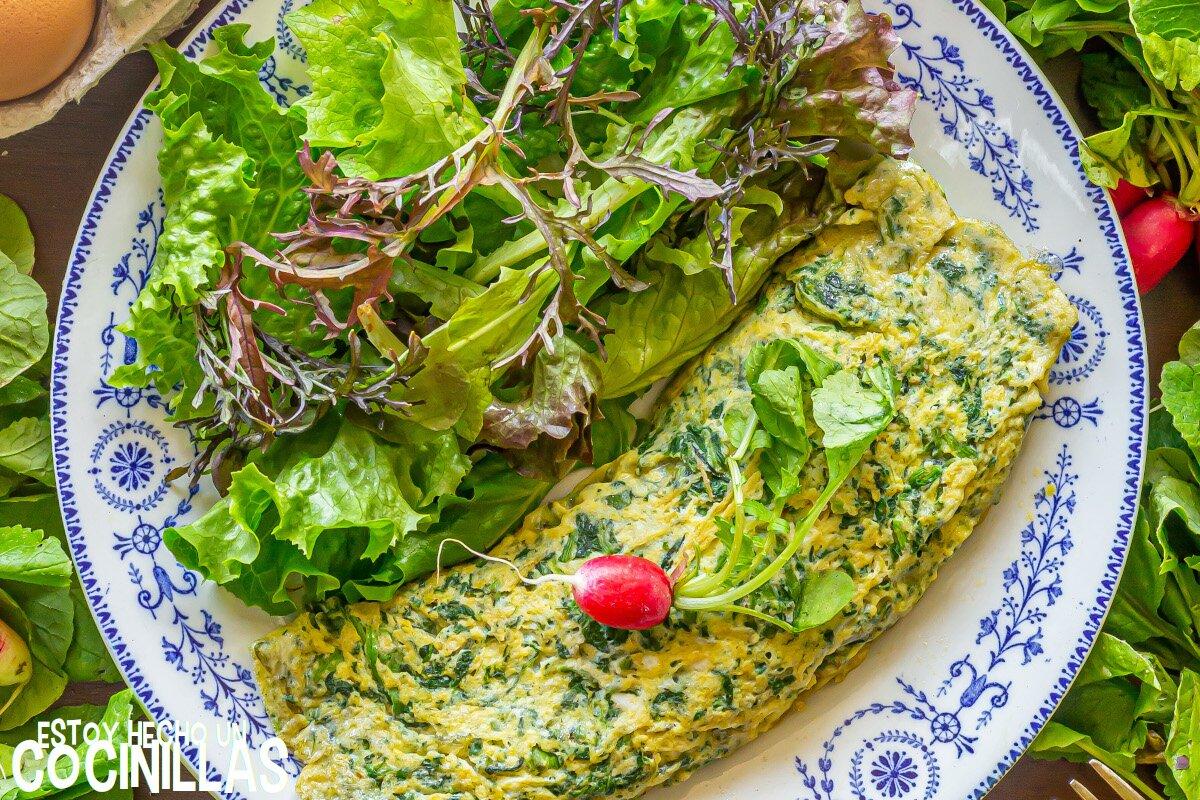 Receta de tortilla francesa de hojas de rábano
