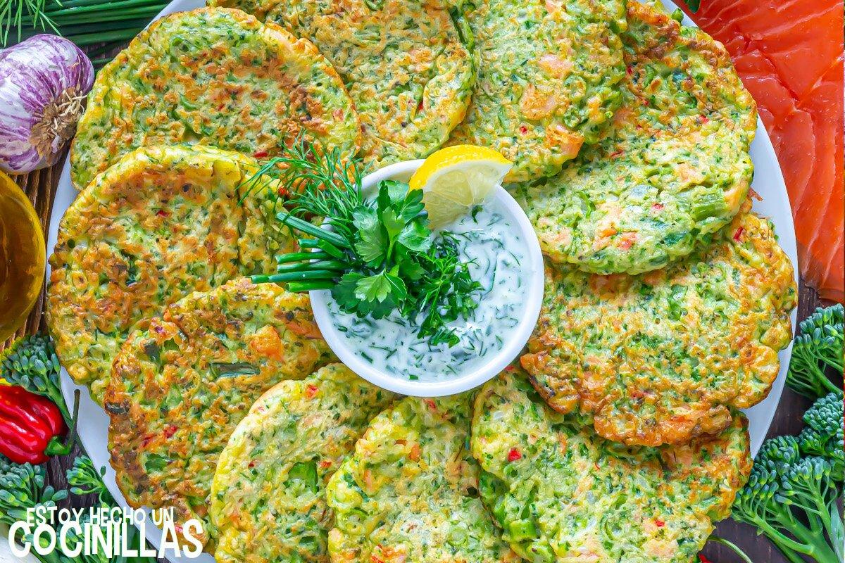 Receta de tortitas de Bimi® y salmón ahumado