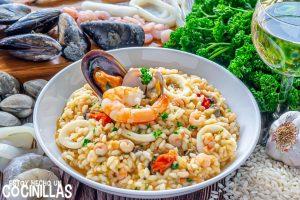 Receta de risotto de marisco (frutti di mare)